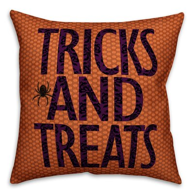 Tricks and Treats Throw Pillow Pillow Use: Outdoor