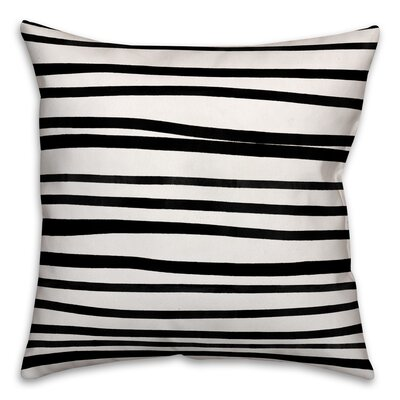 Bretz Stripes Throw Pillow Pillow Use: Outdoor