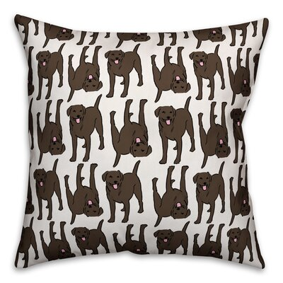 All The Labs Throw Pillow in , Cover Only Color: Chocolate, Size: 18 x 18