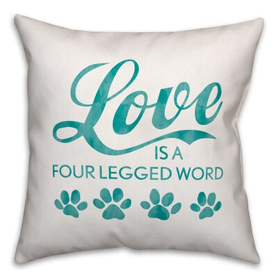 Four Legged Love Throw Pillow in , Cover Only Size: 20 x 20