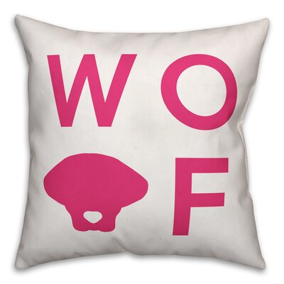 Bragg Woof Throw Pillow in , Cover Only Size: 16 x 16