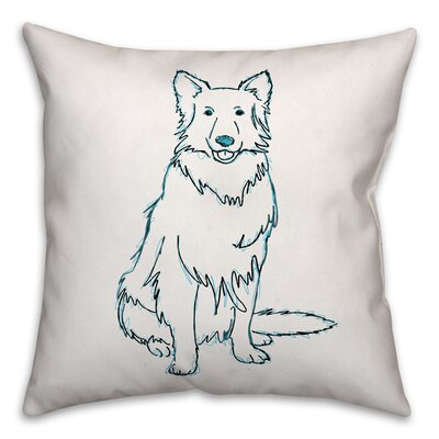 Shaggy Dog Throw Pillow in , Cover Only Size: 16 x 16