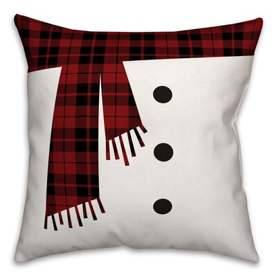 Snowman Scarf and Buttons Throw Pillow Type: Throw Pillow