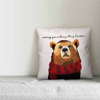 Gabin Beary Merry Christmas Throw Pillow Type: Throw Pillow