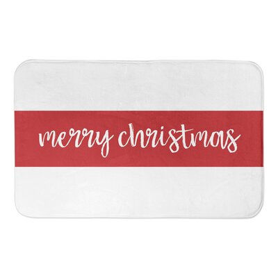 Merry Christmas Stripes Bath Mat
