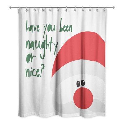 Santa Naughty or Nice Shower Curtain
