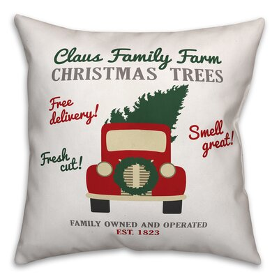 Claus Family Throw Pillow Type: Pillow Cover
