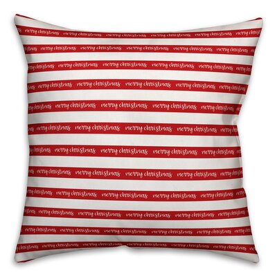 Merry Christmas Polyester Throw Pillow Type: Pillow Cover