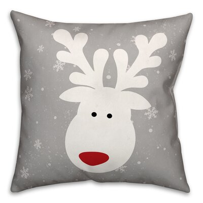 Cute Deer Throw Pillow Type: Pillow Cover