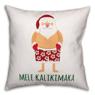 Santa Bathing Suit Polyester Throw Pillow Type: Throw Pillow