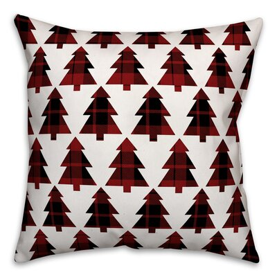Plaid Trees Throw Pillow Type: Pillow Cover