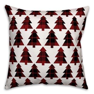 Plaid Trees Throw Pillow Type: Throw Pillow