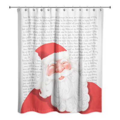 Twas the Night Before Santa Shower Curtain