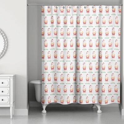 Santa Bathing Suit Shower Curtain