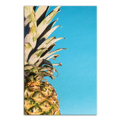 'Large Pineapple' Graphic Art Print on Canvas Format: Wrapped Canvas, Size: 18