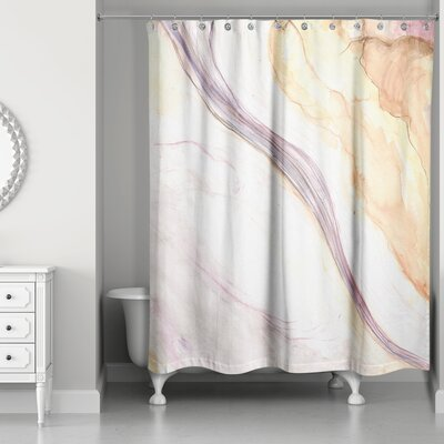 Pressler Marbled Watercolor Shower Curtain