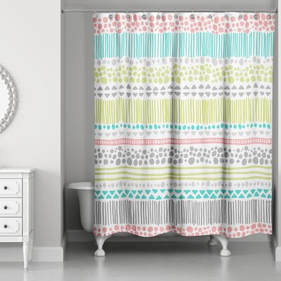 Prieto Pastel Pattern Shower Curtain