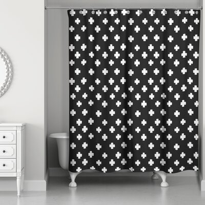 Principato Swiss Cross Shower Curtain