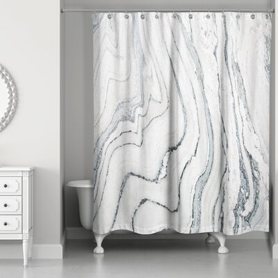 Kensa Marble Shower Curtain