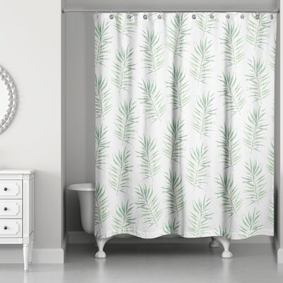 Risha Palm Leaf Shower Curtain