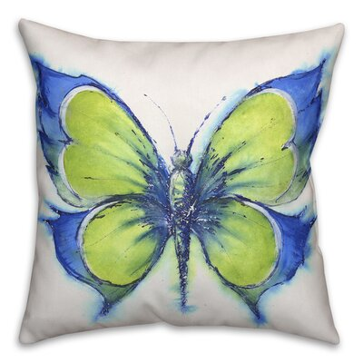 Prindle Butterfly Outdoor Throw Pillow Size: 16 x 16