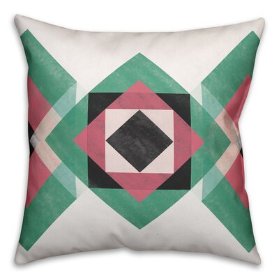 Beane Geometric Southwest Outdoor Throw Pillow Size: 20 x 20