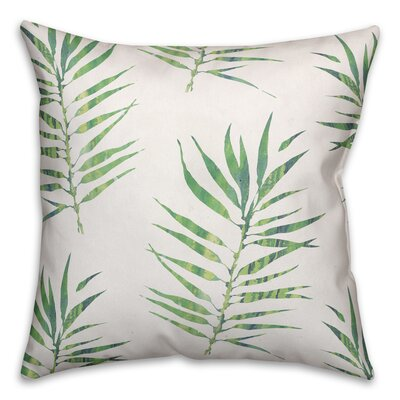 Risha Palm Leaf Size: 16 x 16, Type: Throw Pillow