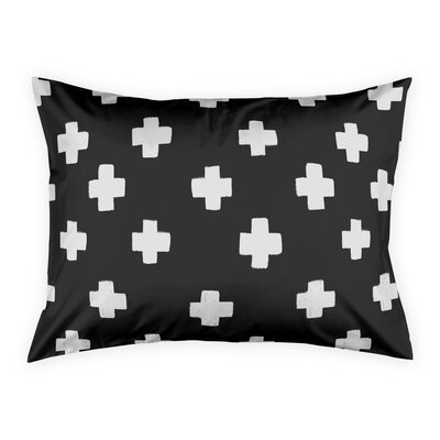 Principato Nutting Black Swiss Cross Pillow Sham Size: Standard
