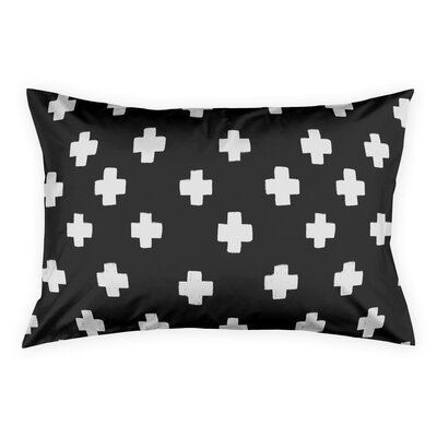Principato Nutting Black Swiss Cross Pillow Sham Size: King