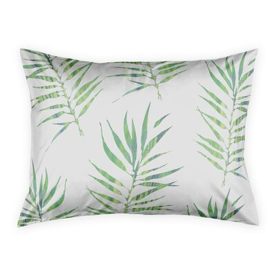 Risha Palm Leaf Pillow Sham Size: Standard