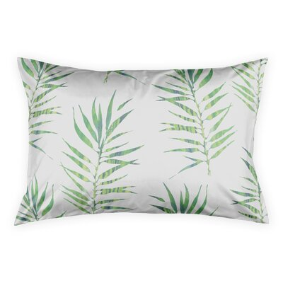 Risha Palm Leaf Pillow Sham Size: King