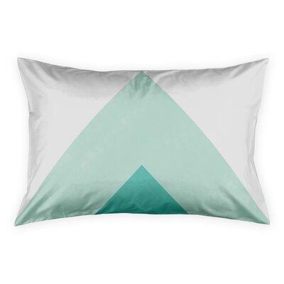 Noriega Turquoise Pillow Sham Size: King