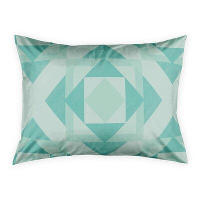 Noriega Turquoise Geo Pillow Sham Size: Standard