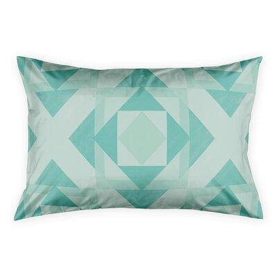 Noriega Turquoise Geo Pillow Sham Size: King