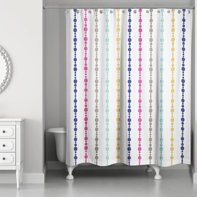 Ricker Bead Pattern Shower Curtain