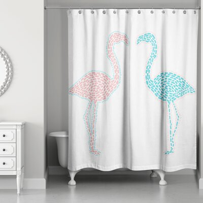 Perdue Flamingo Love Shower Curtain