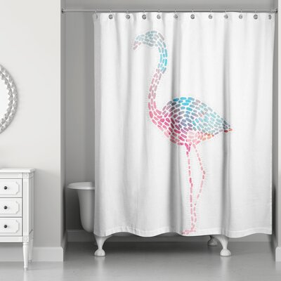 Perdue Flamingo Shower Curtain