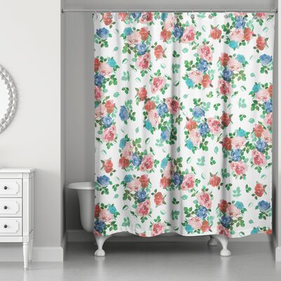 Filleti Vintage Rose Garden Shower Curtain