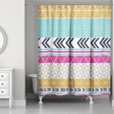Rickman Stripe Pattern Shower Curtain
