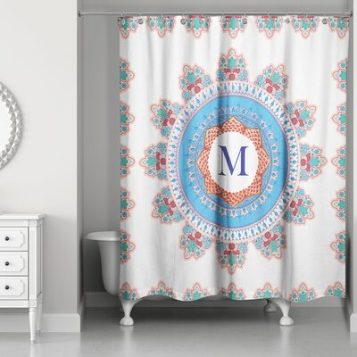 Ireland Monogram Medallion Shower Curtain Letter: M