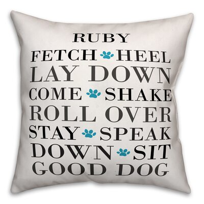 Harshad Name Dog Words Throw Pillow