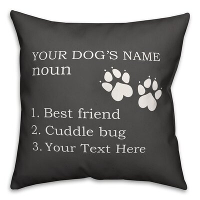 Harshad Dog Name Definition Throw Pillow