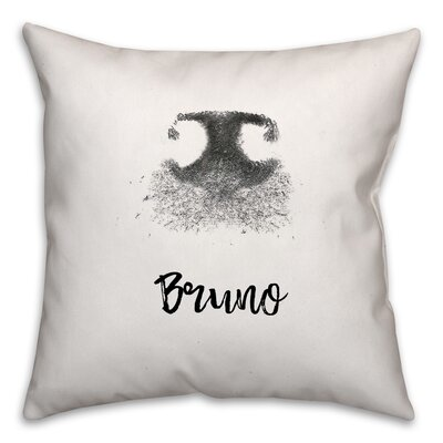 Harshad Dog Name Nose Print Throw Pillow