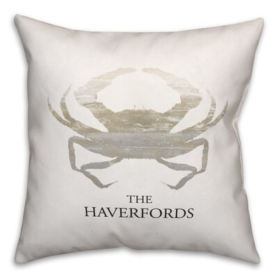 Randleswood Name Crab Throw Pillow