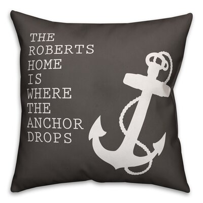Randleswood Name Where the Anchor Drops Throw Pillow