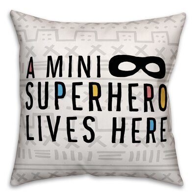 Cosima Mini Superhero Lives Here Throw Pillow