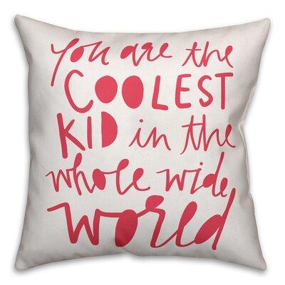 Saul Kid Throw Pillow Color: Pink
