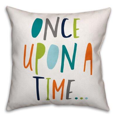 Zander Once Upon a Time Throw Pillow Color: Blue