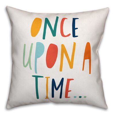 Zander Once Upon a Time Throw Pillow Color: Orange