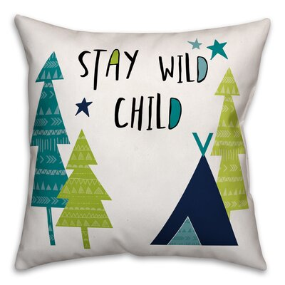 Inara Child Throw Pillow Color: Blue